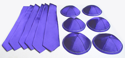 Kippah and matching Tie sets
